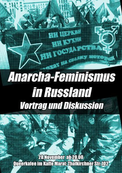 Flyerbild zur Veranstaltung Anarchafeminismus in Russland